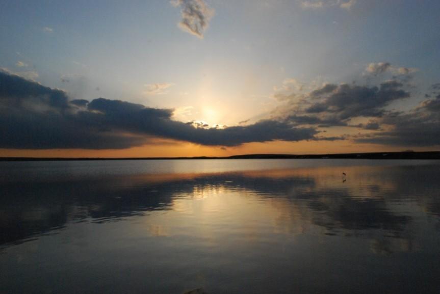 Sunset over GregLake